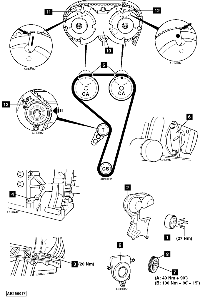 chevrolet cruze water pump location