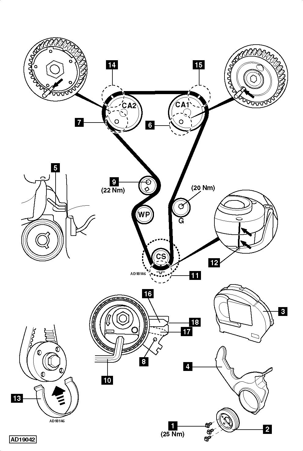 Diagrama De Tiepo Para Mazda Mpv 30 2003 further How To Replace Timing Belt On Peugeot 307 1 4i 2005 2007 also How To Replace Timing Chain On Vauxhallopel Insignia 2 0 Turbo 4x4 also Showthread moreover Diagrama De Sincronizacion De Cadena De Tiempo. on ford 2 3 timing marks diagram