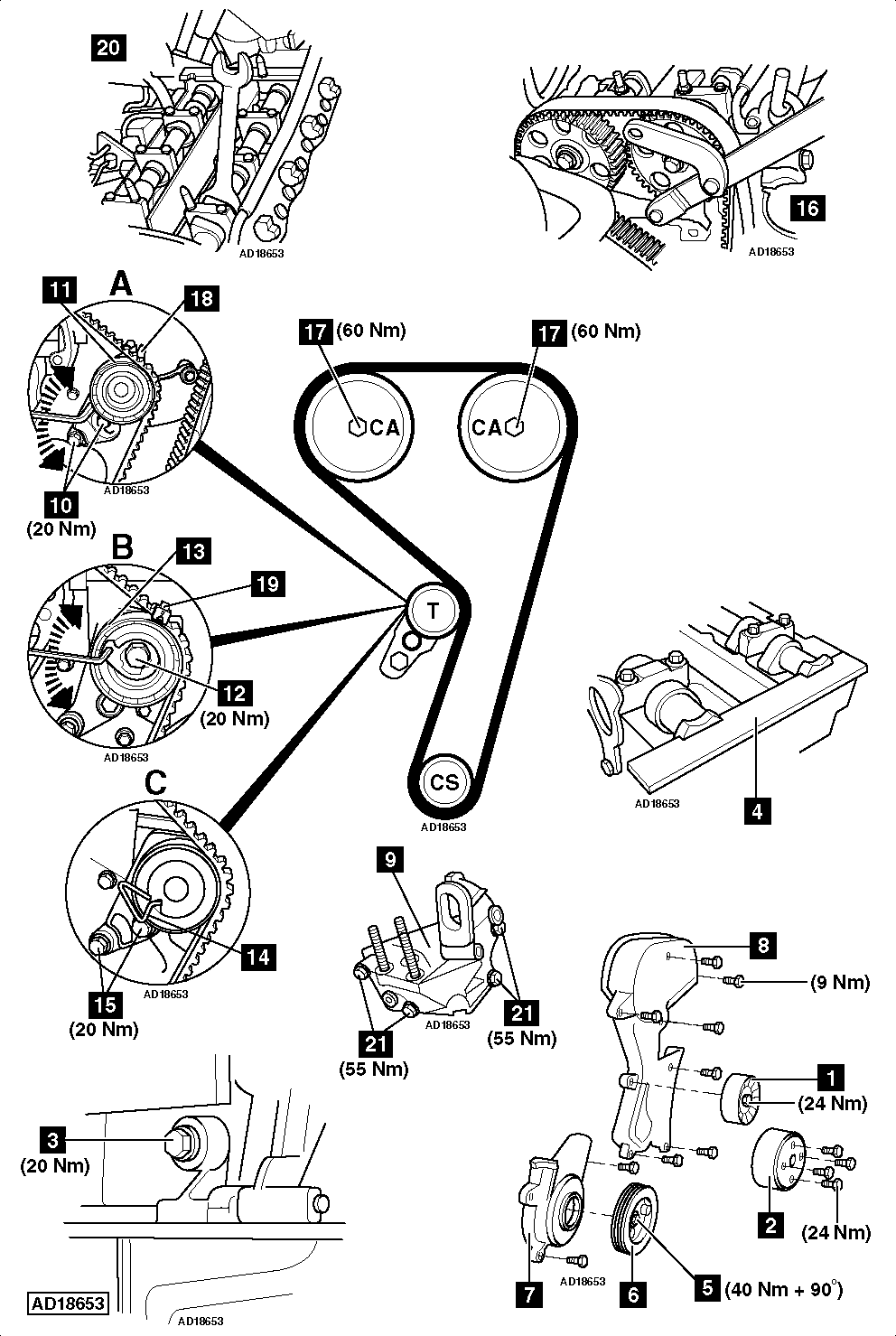 Setting Engine Belt Diagram 3 1 Example Electrical Circuit Pontiac Timing How To Replace On Ford Focus 4i 1998 2005 Rh Com 31 V6 Chevy 34l