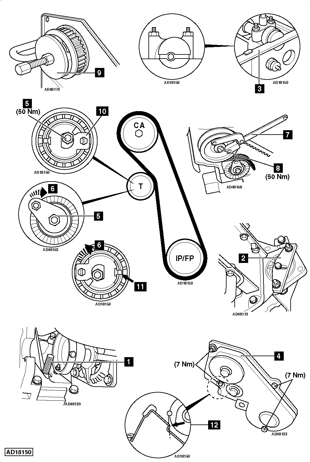 how to replace timing belt on ford focus 1 8 tdci 2002 2005 3.5 ford edge timing marks diagram #9