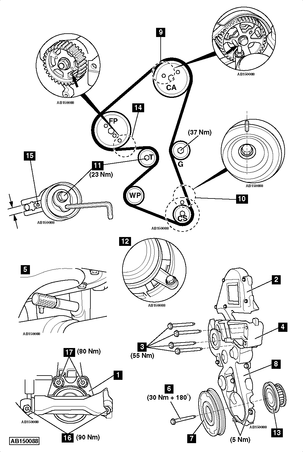 Replace timing belt Ford C MAX 16 TDCi 2007 2010 replace timing belt ford c max 1 6 tdci 2007 2010 ford c max wiring diagram at crackthecode.co