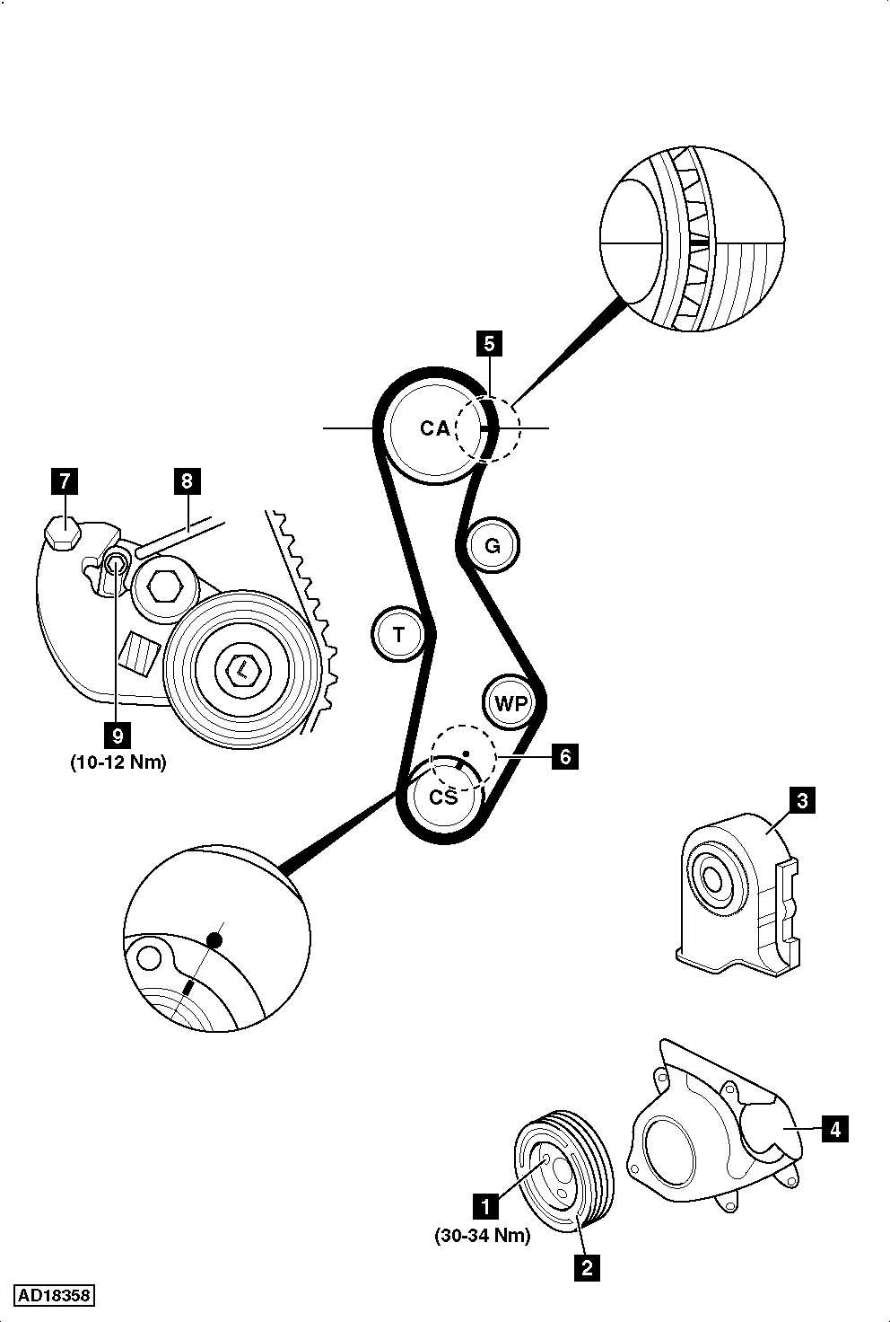 2007 hyundai santa fe timing belt diagram