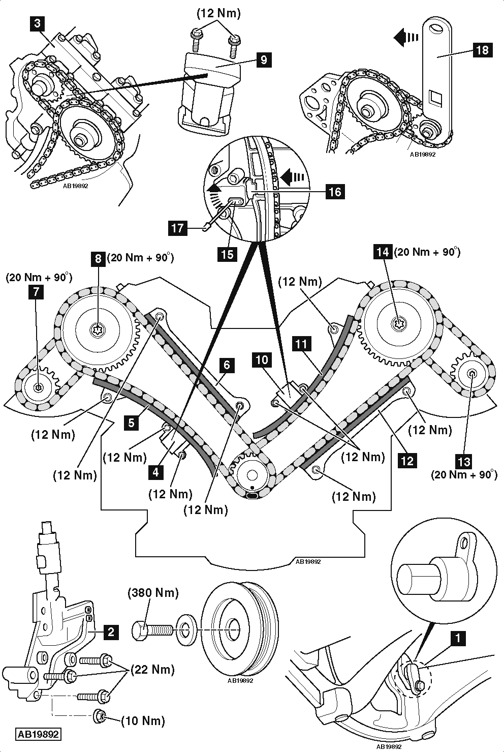 service manual  how to replace timing tensioner 2008 land