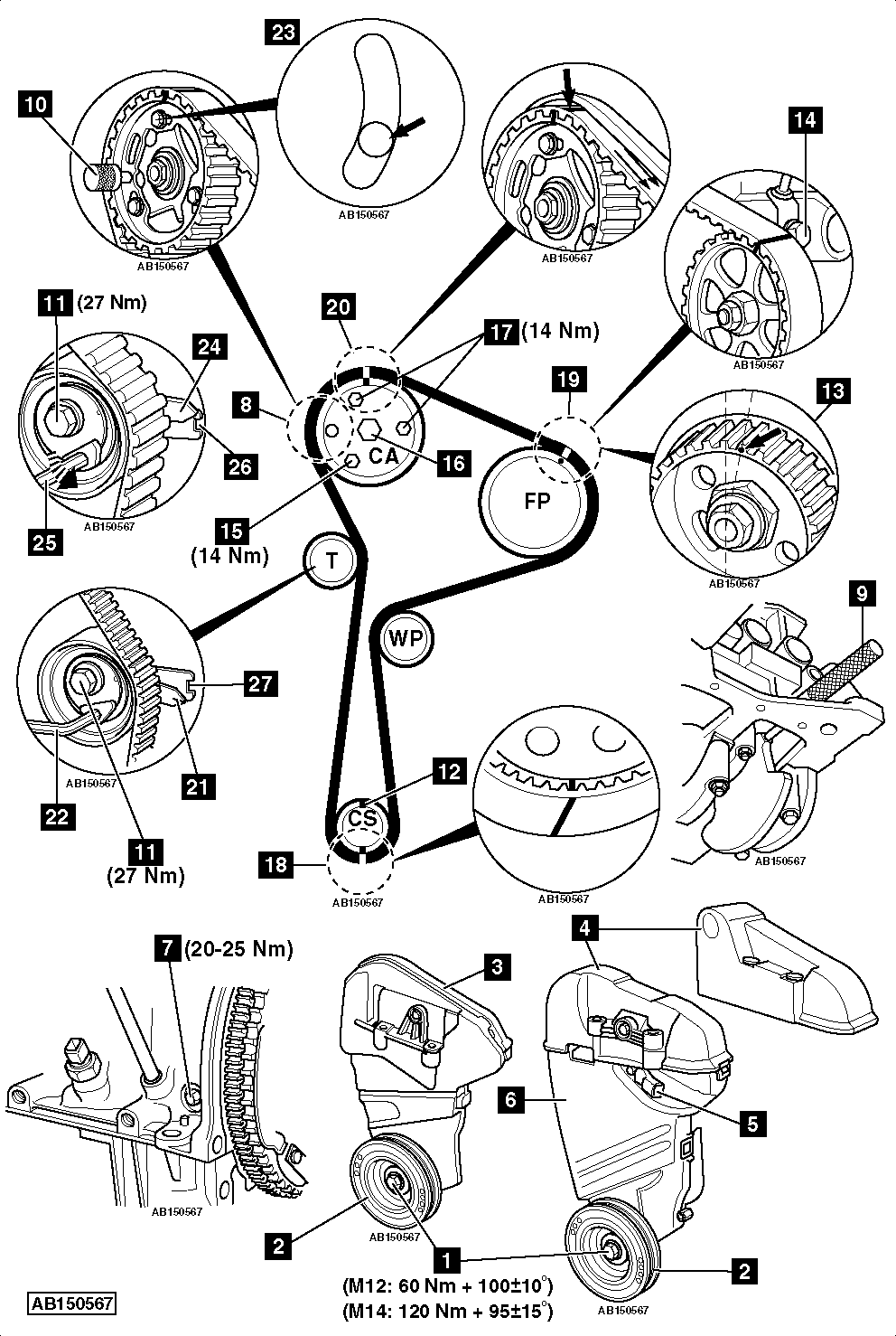 nissan 3 timing belt tensioner