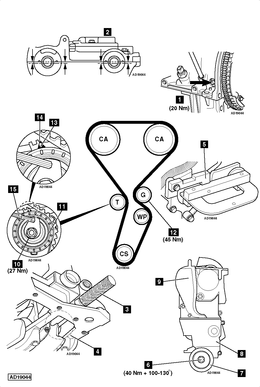 service manual  2004 isuzu ascender timing belt change