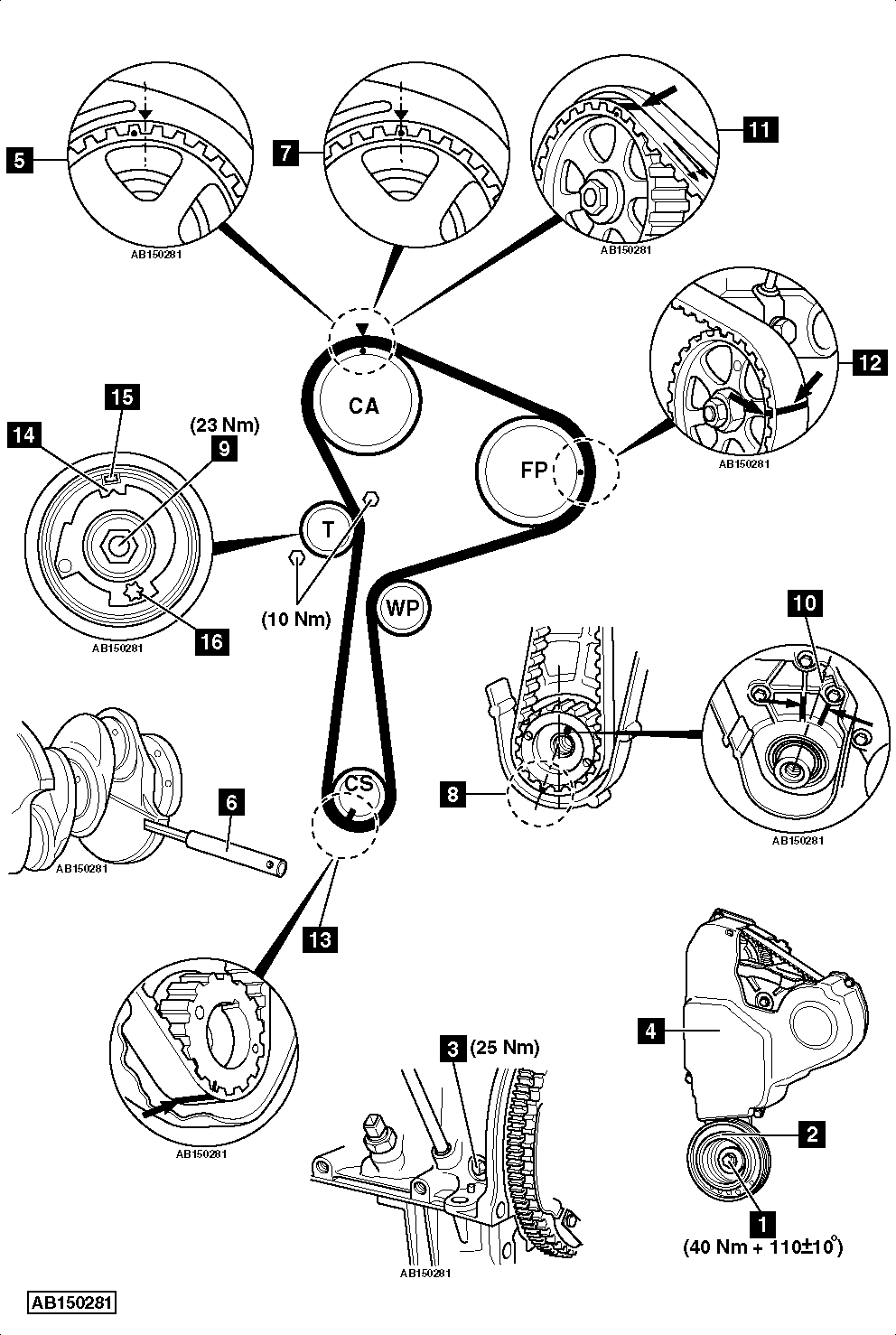 Engine Mounting Diagram on ford 2 3 timing marks diagram