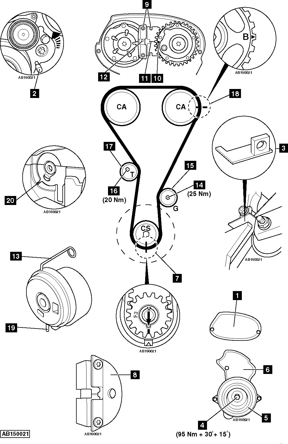 2008 Saturn Astra Timing Belt Diagram Data Set