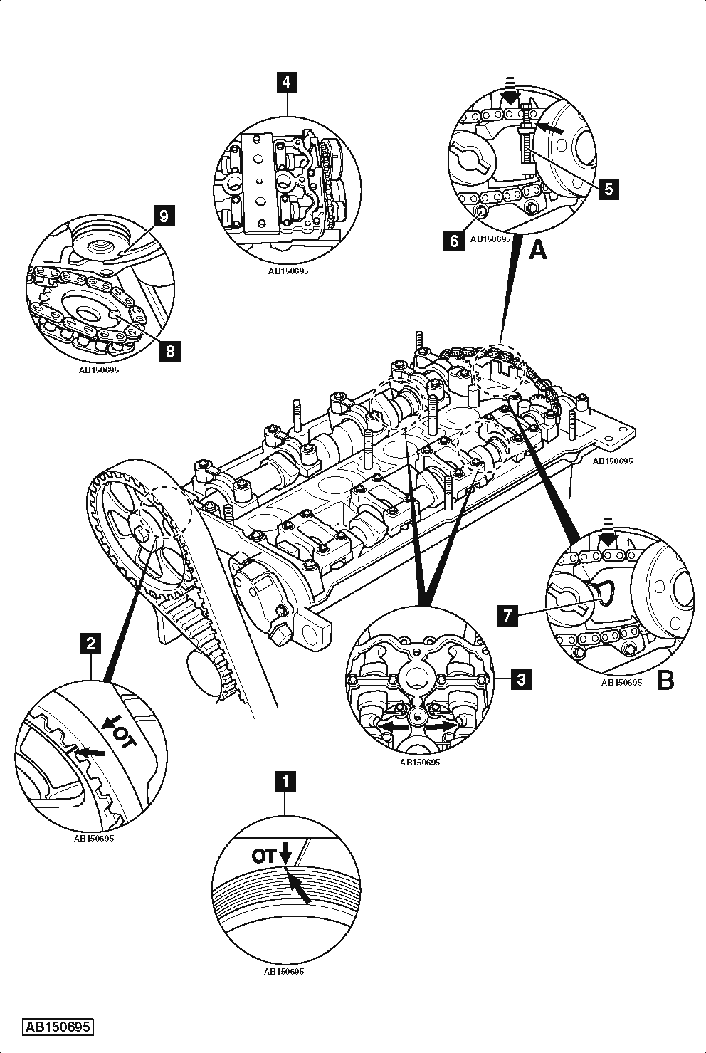 volkswagen engine diagram timing mark