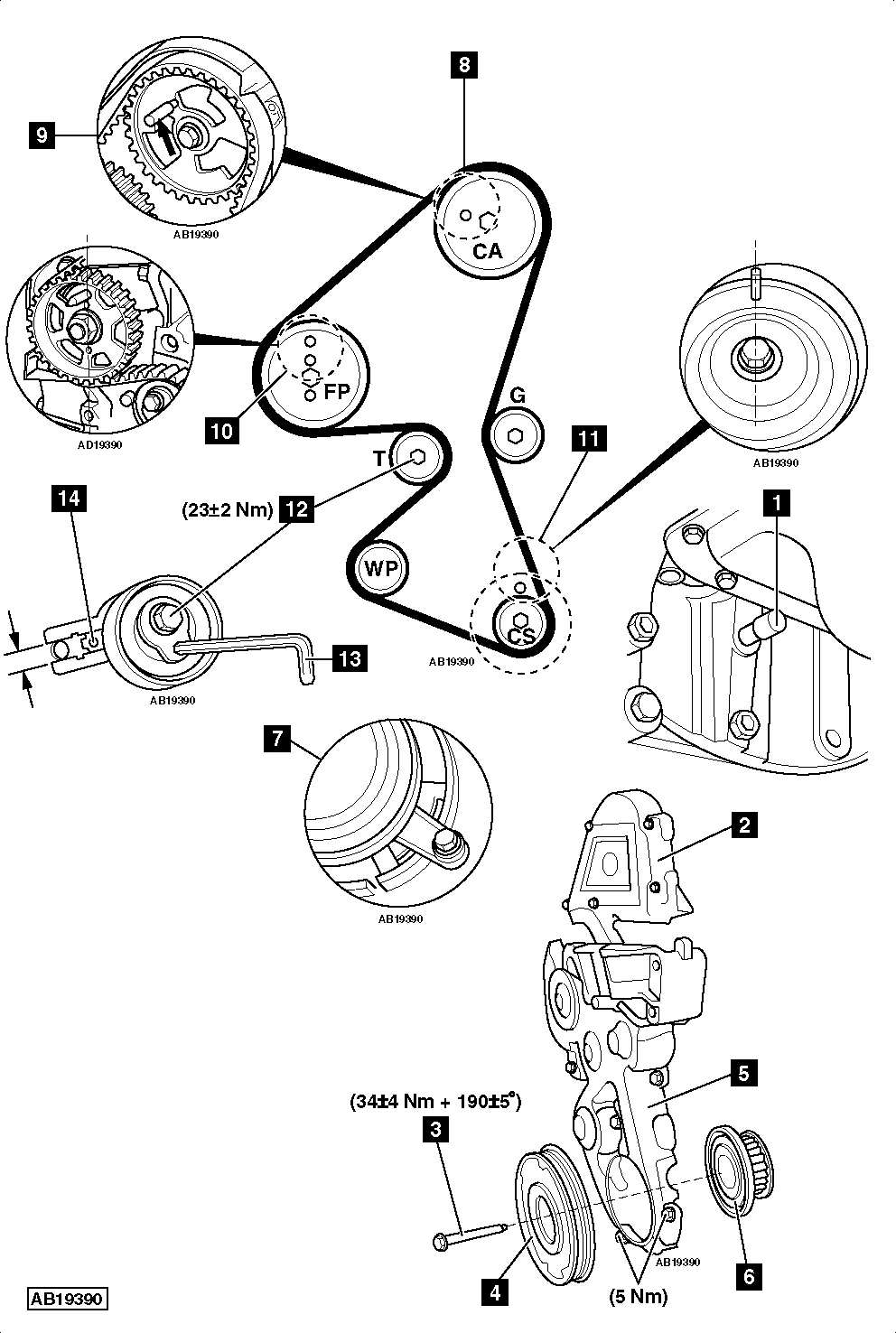 service manual  how to replace timing belt on a 2007