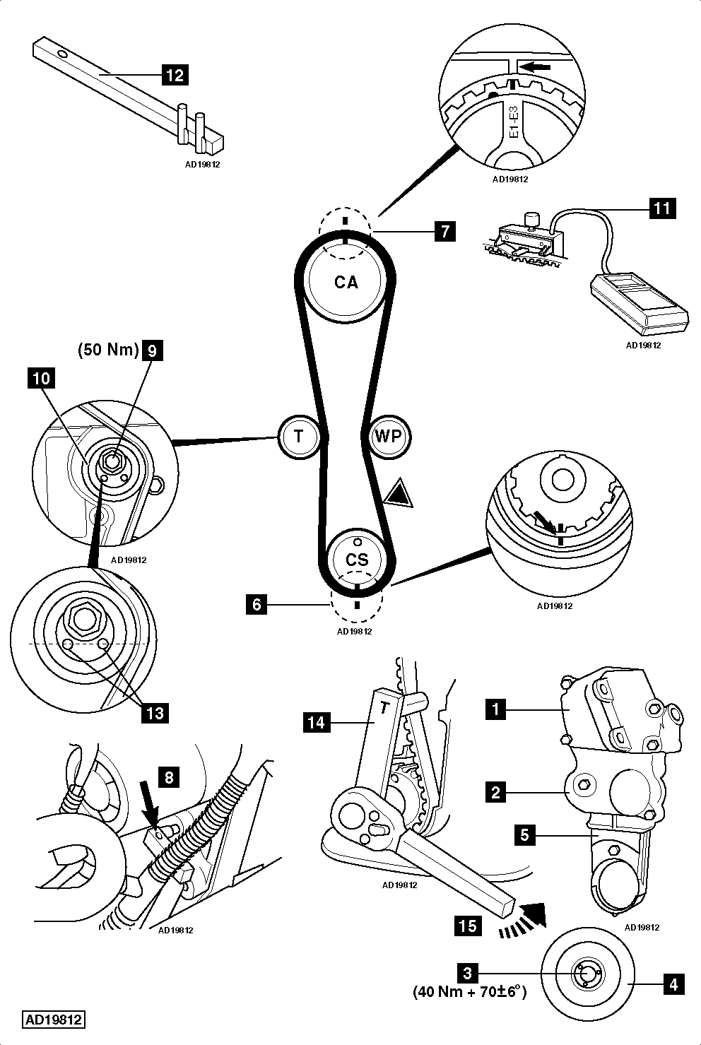 service manual  how to replace timing belt on a 1998