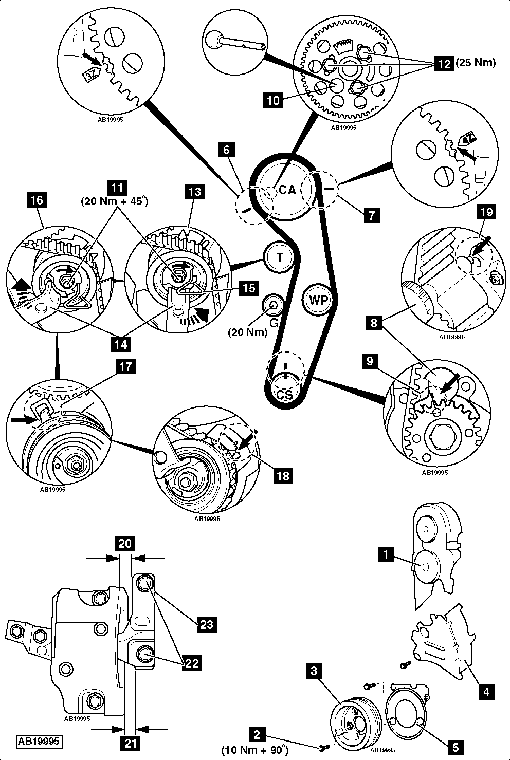 timing belt diagram vw 1 9 tdi
