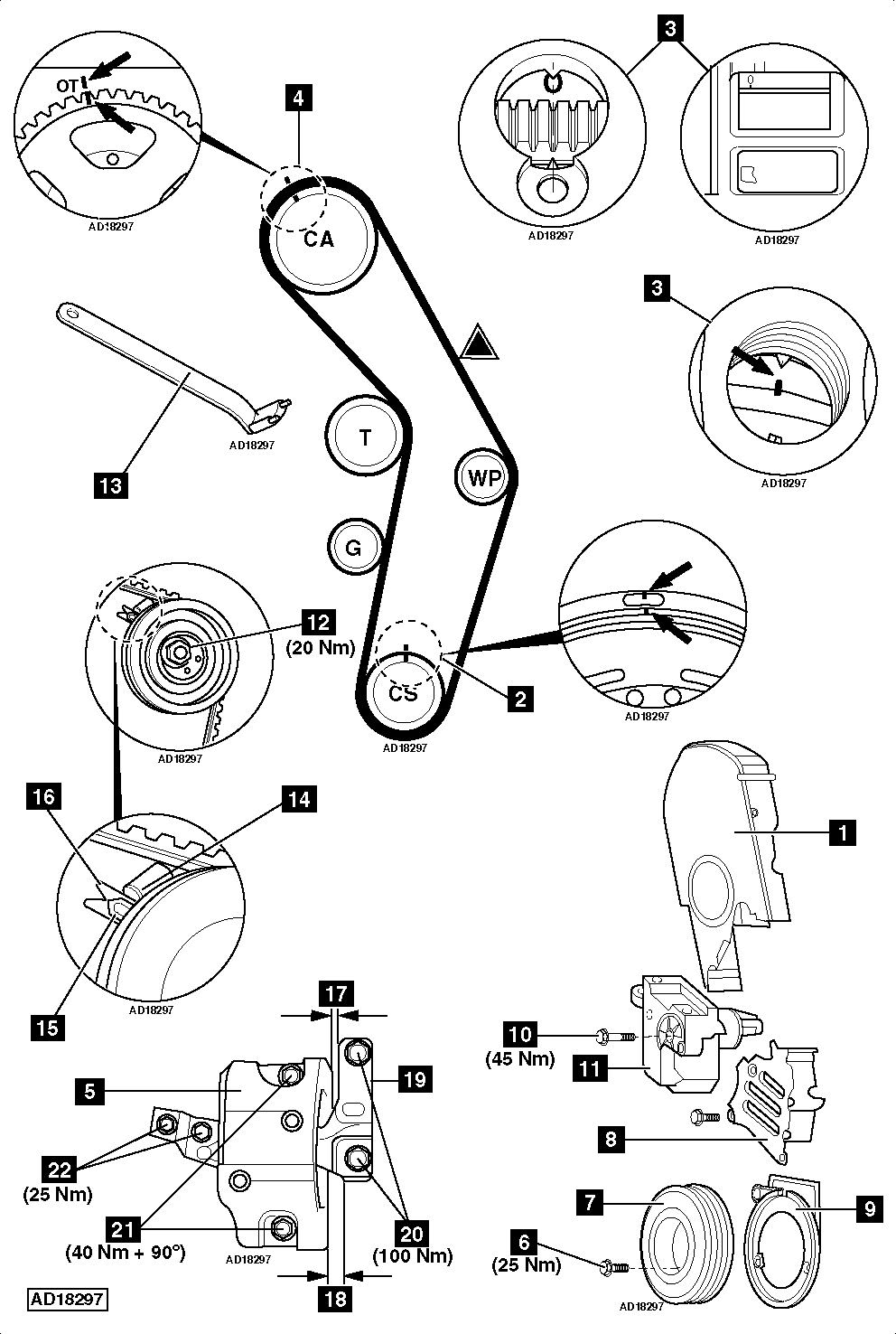 International Timing Marks on oil pump internal bustion engine