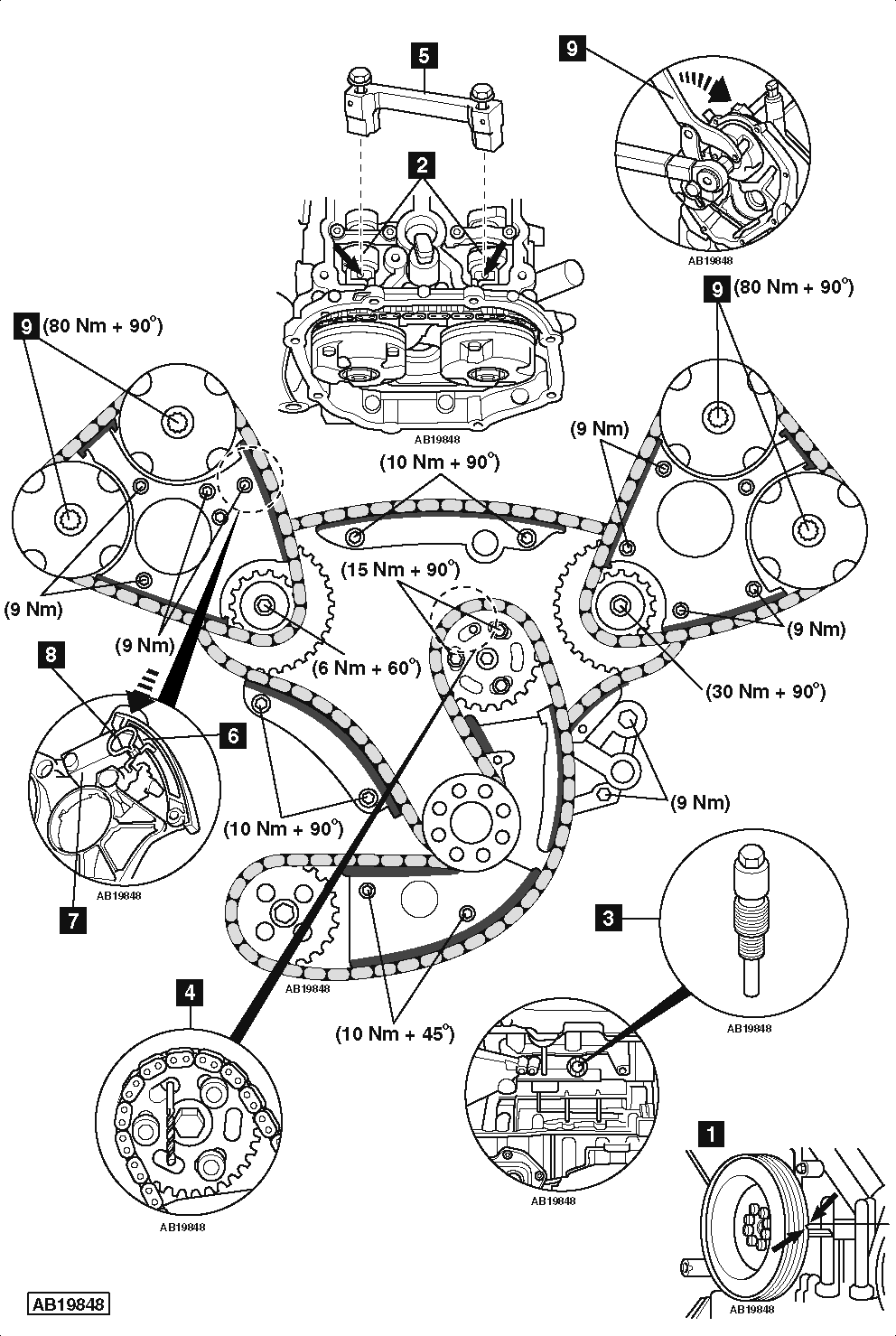 How To Replace Timing Chain On Audi A4 B8 3 2 Fsi Quattro also How To Replace Timing Chain On Peugeot 308 1 6 Thp 2007 2010 likewise Removal and installation 863 also How Your Oil Pumps Pressure Bye Pass Circuit Works together with Index. on ford 5 4 engine removal