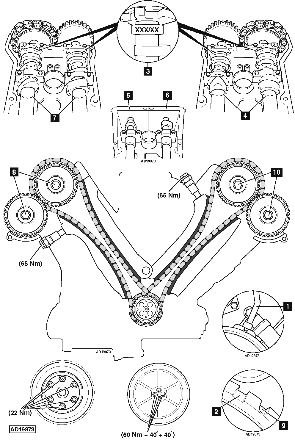 service manual  2011 ford e350 timing chain marks