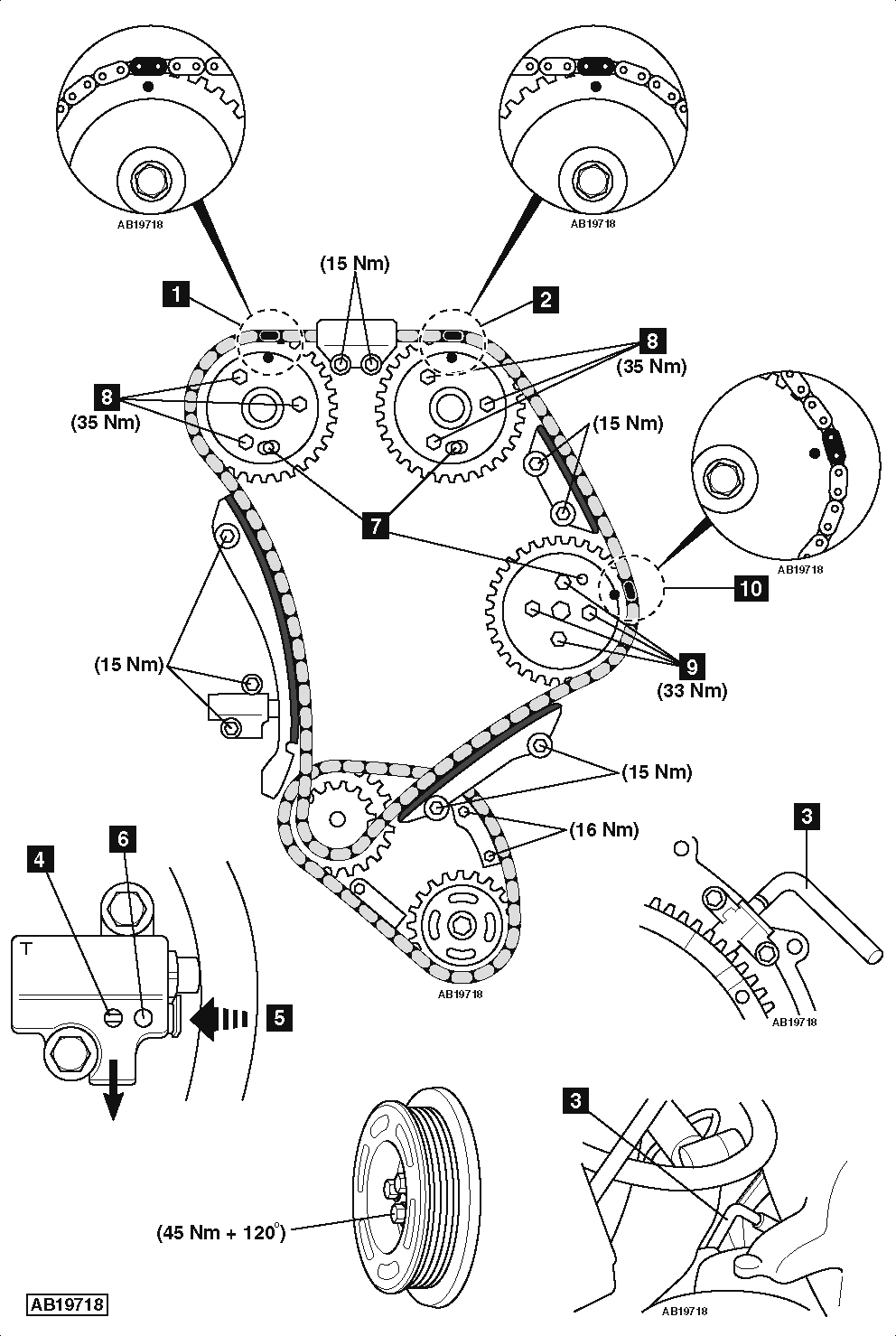 service manual how to set timing chain on a 2009 aston. Black Bedroom Furniture Sets. Home Design Ideas