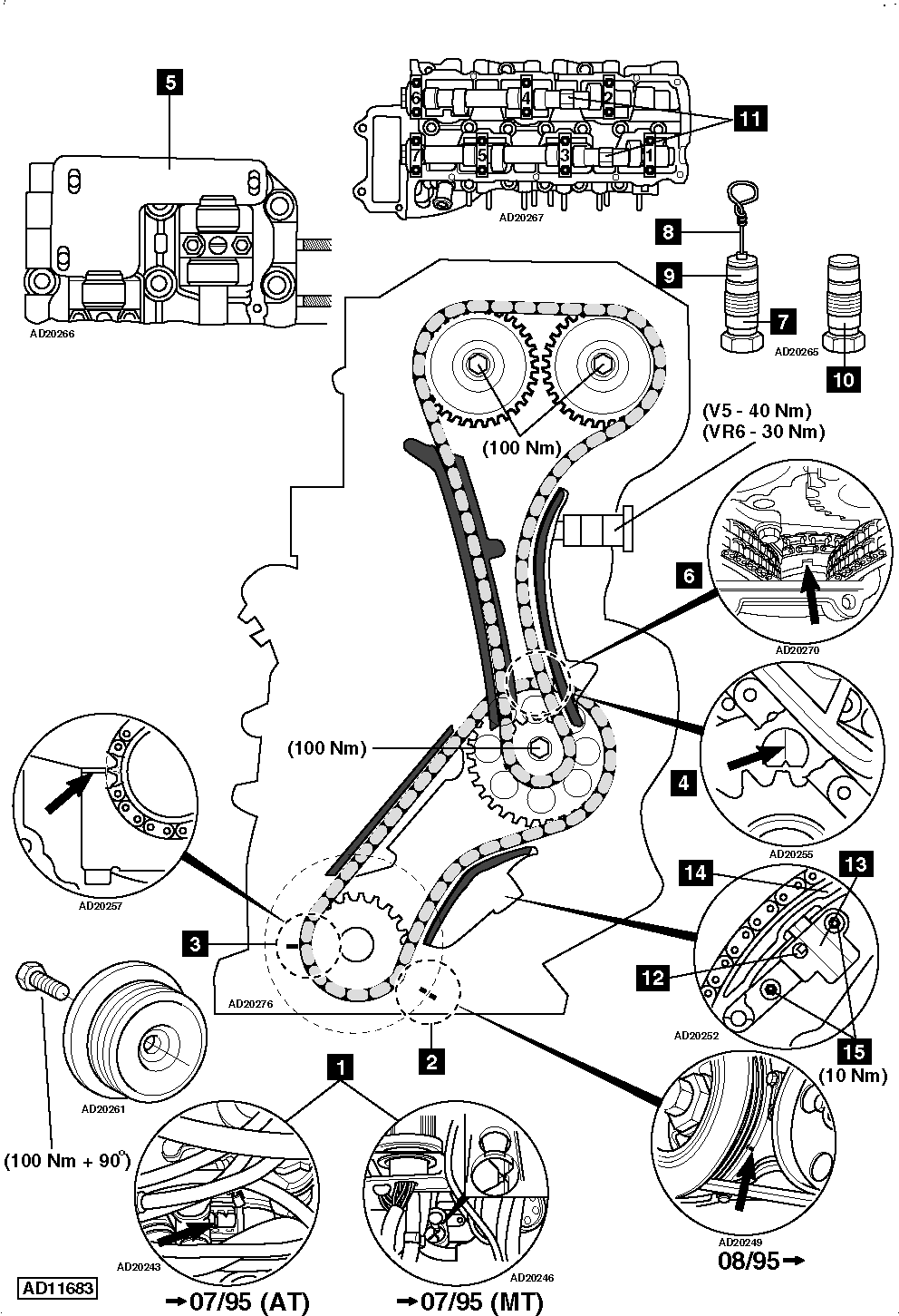 How To Replace Timing Chain On Vw Golf 4 23 And 4motion Vr6 Engine Diagram: 2001 BMW 325ci Engine Diagram At Chusao.net