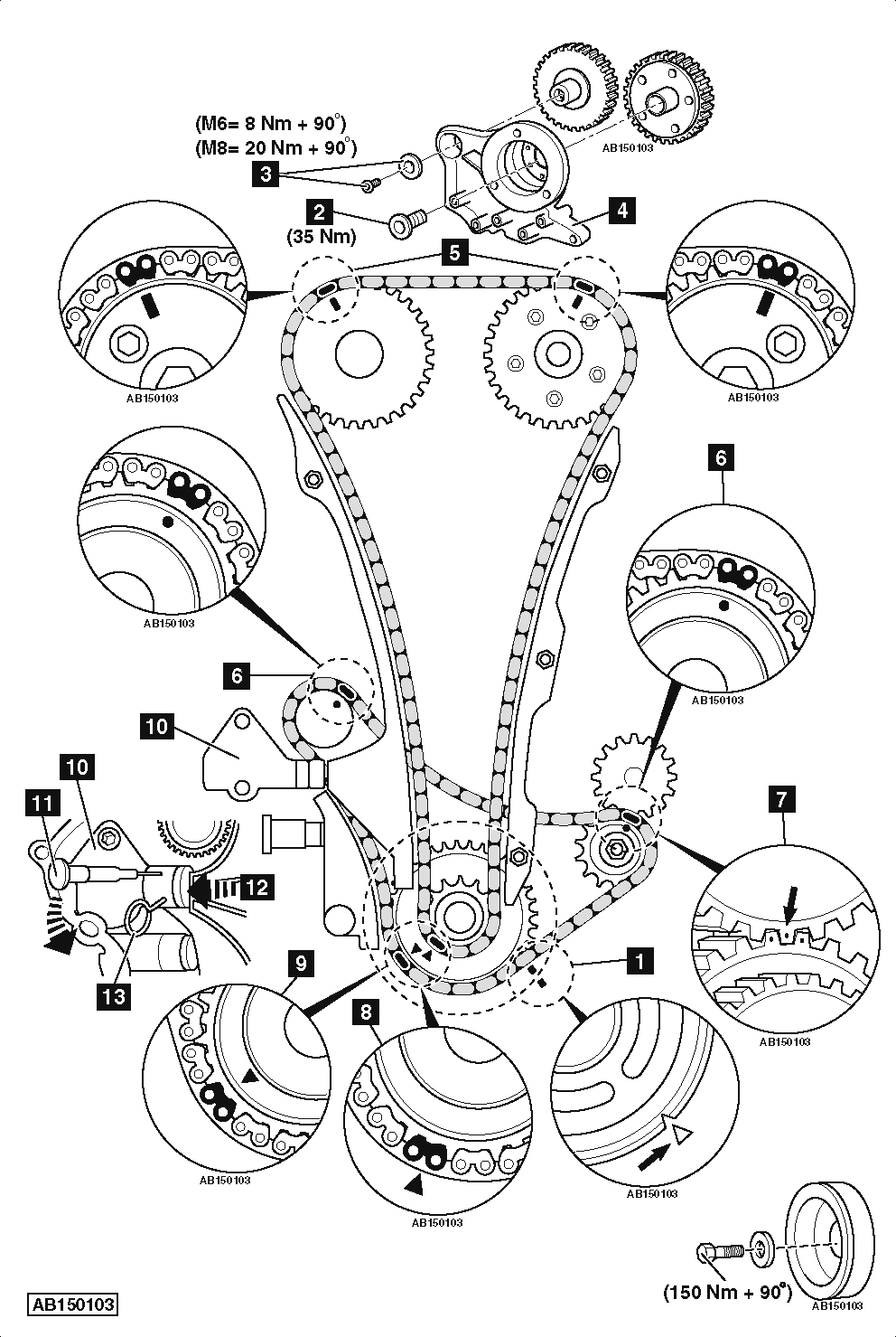 1987 volkswagen passat timing chain replacement diagram
