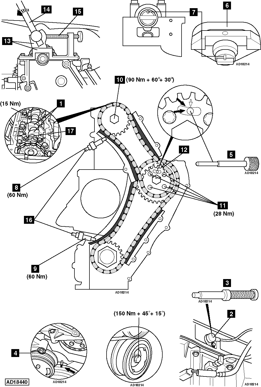 ... Wiring Diagram And Schematics Source · how to replace timing chain on  vauxhall opel astra g 2 0 dti rh replace timing