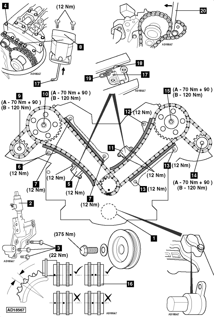 How to replace timing chains on Jaguar S-Type 4.2 R V8 32V 2001-2008