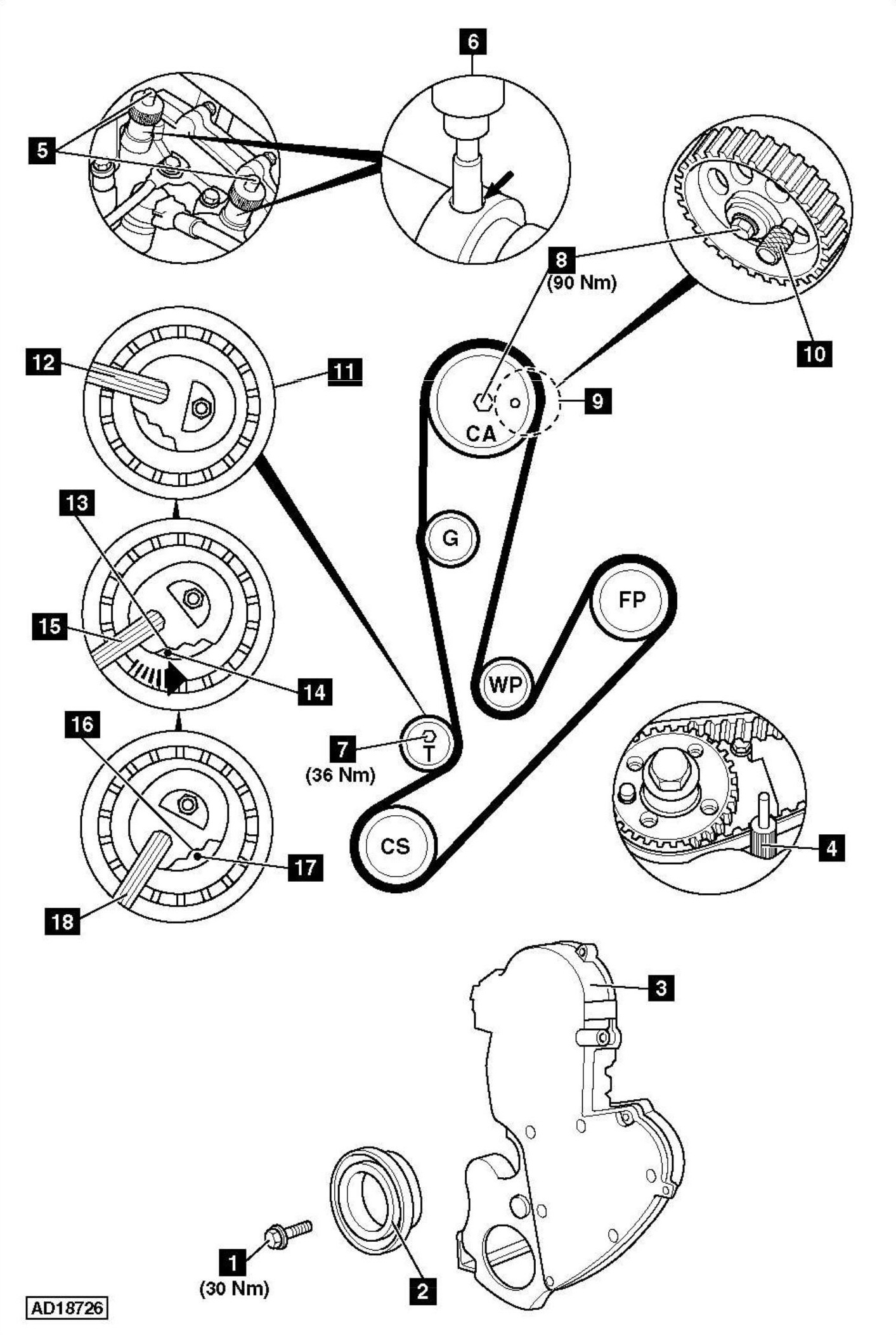 service manual  how to replace timing belt on a 2008