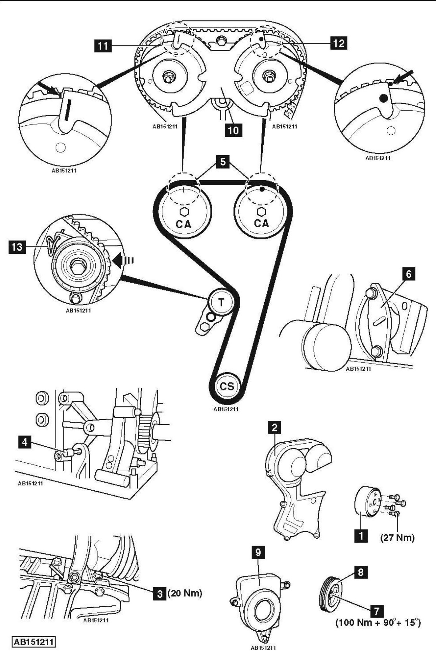 ford engine rotation direction