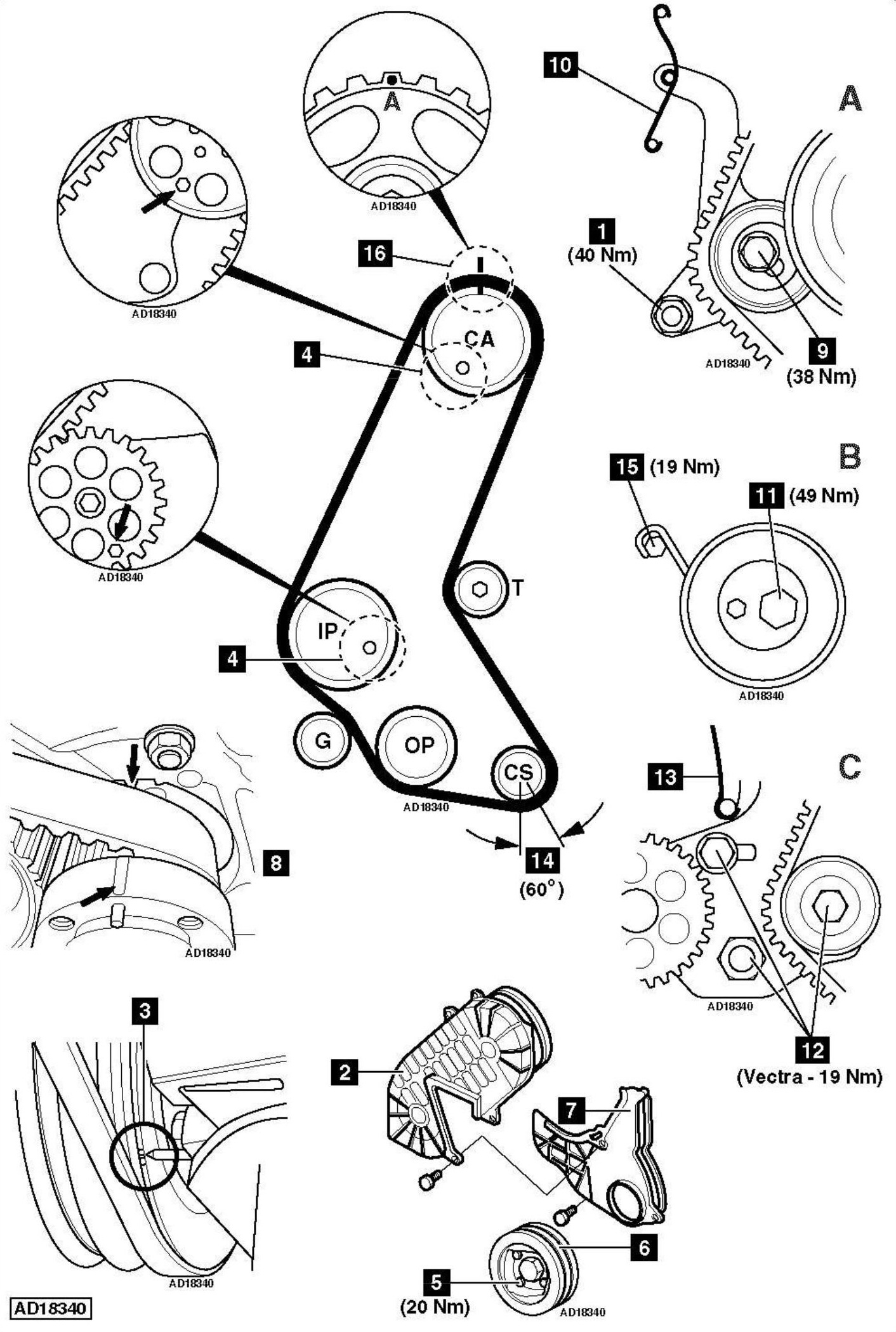 service manual  how to replace timing belt on a 2001