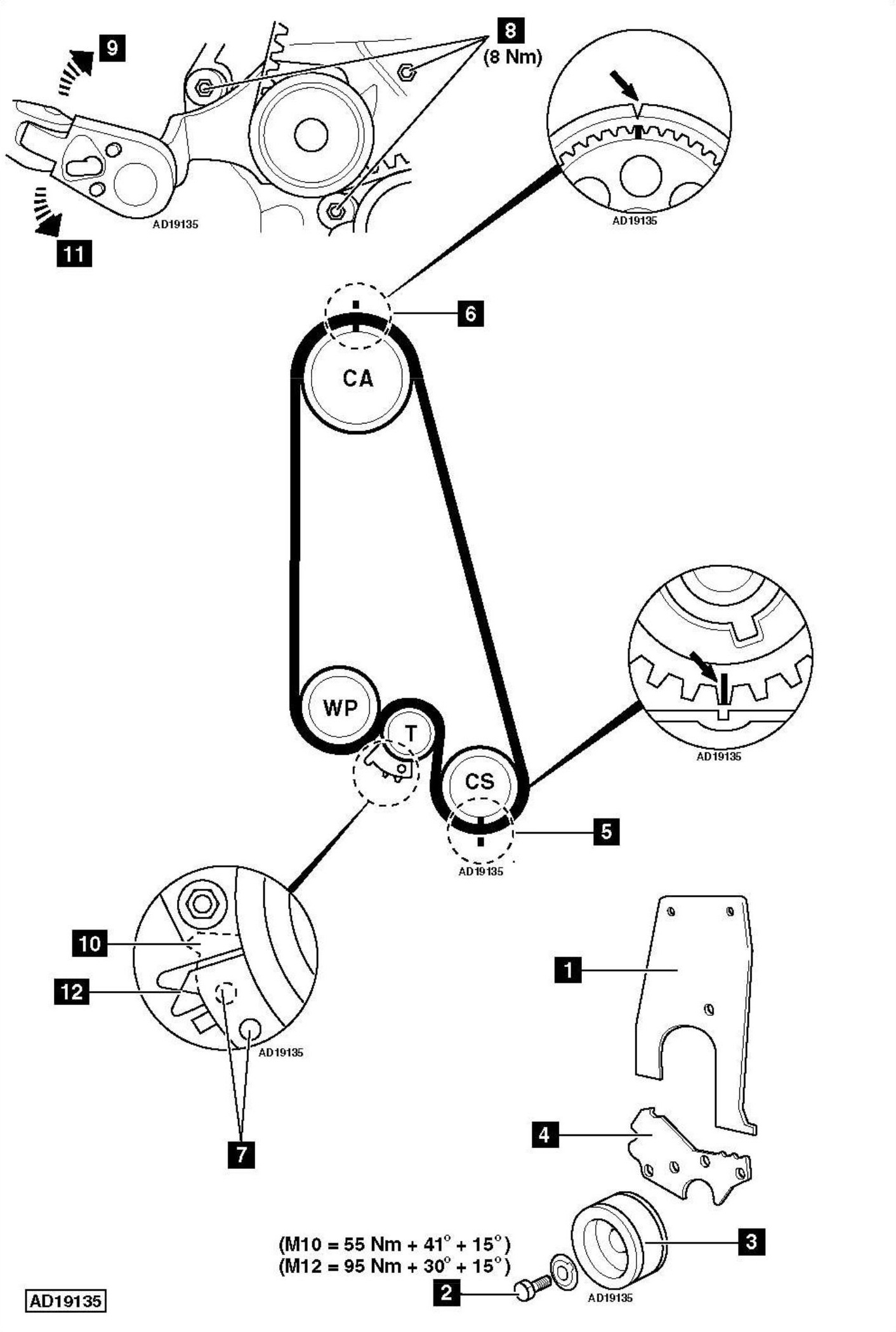 service manual  how to replace timing belt on a 1995 mercury tracer