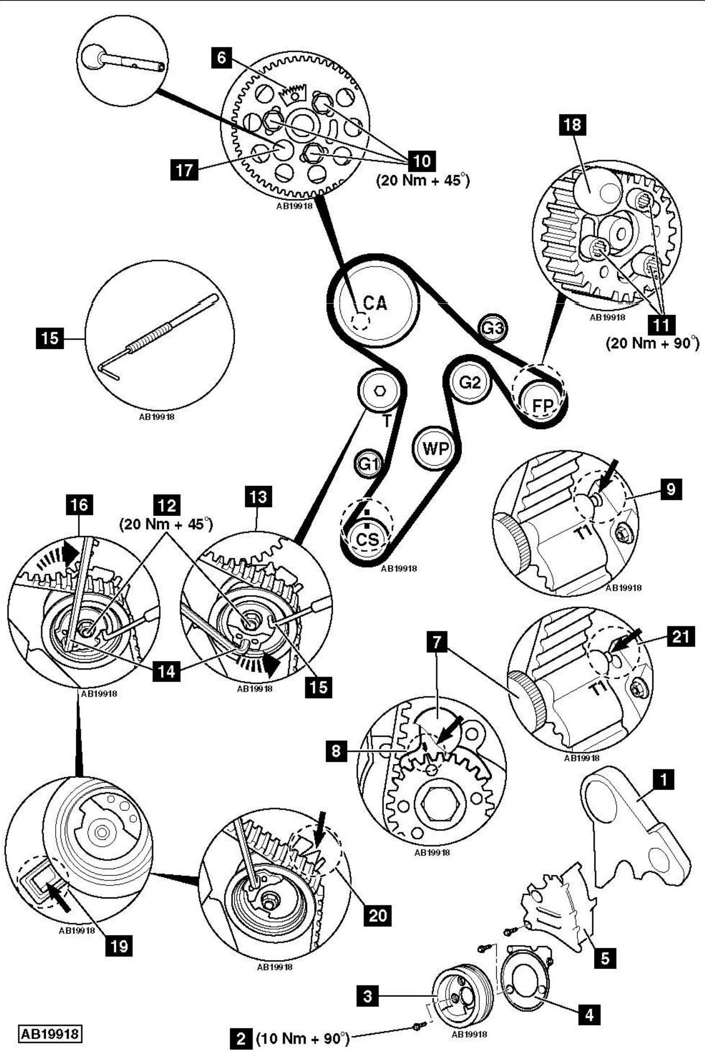 service manual  how to replace timing belt on a 2010