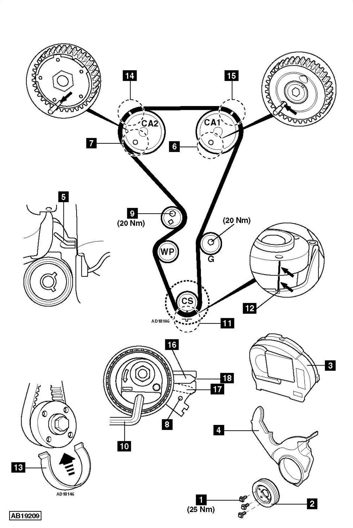 service manual  how to replace timing belt on a 2006